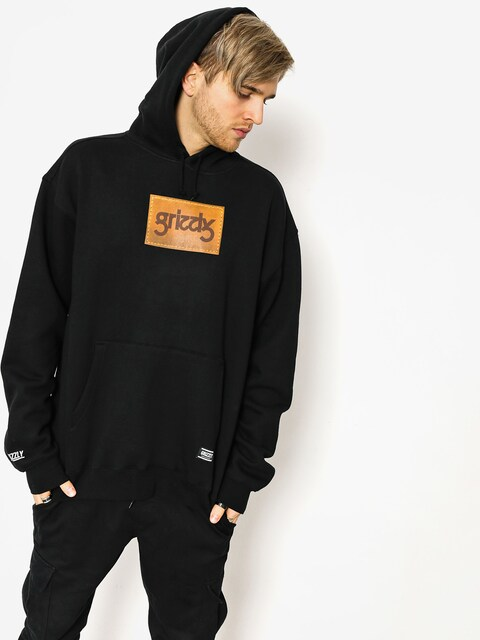 Grizzly Griptape Hoodie Riveted HD (black)
