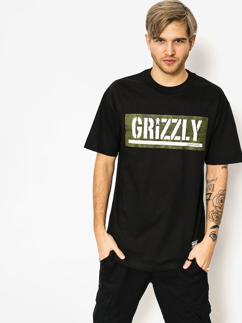 Grizzly Griptape T-shirt Forester Stamp (black)
