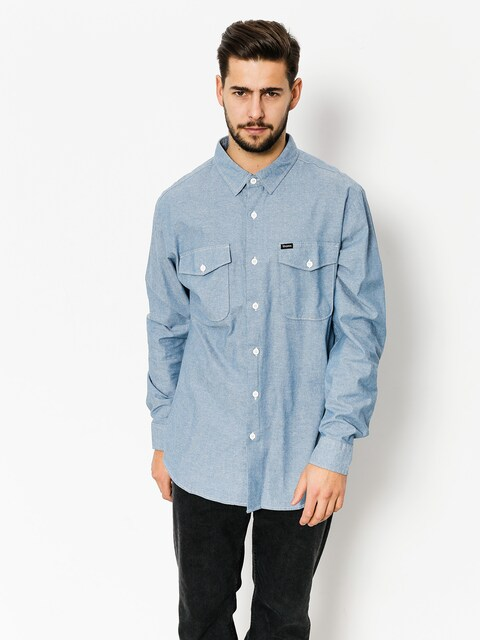 Brixton Shirt Davis Wvn Ls (light blue chambray)