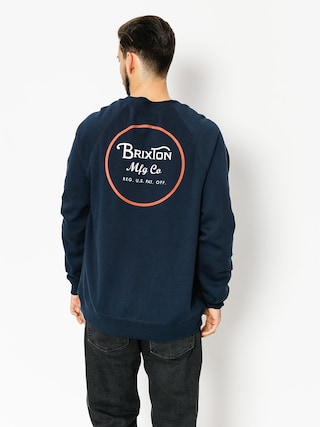 Brixton Sweatshirt Wheeler (navy/orange)