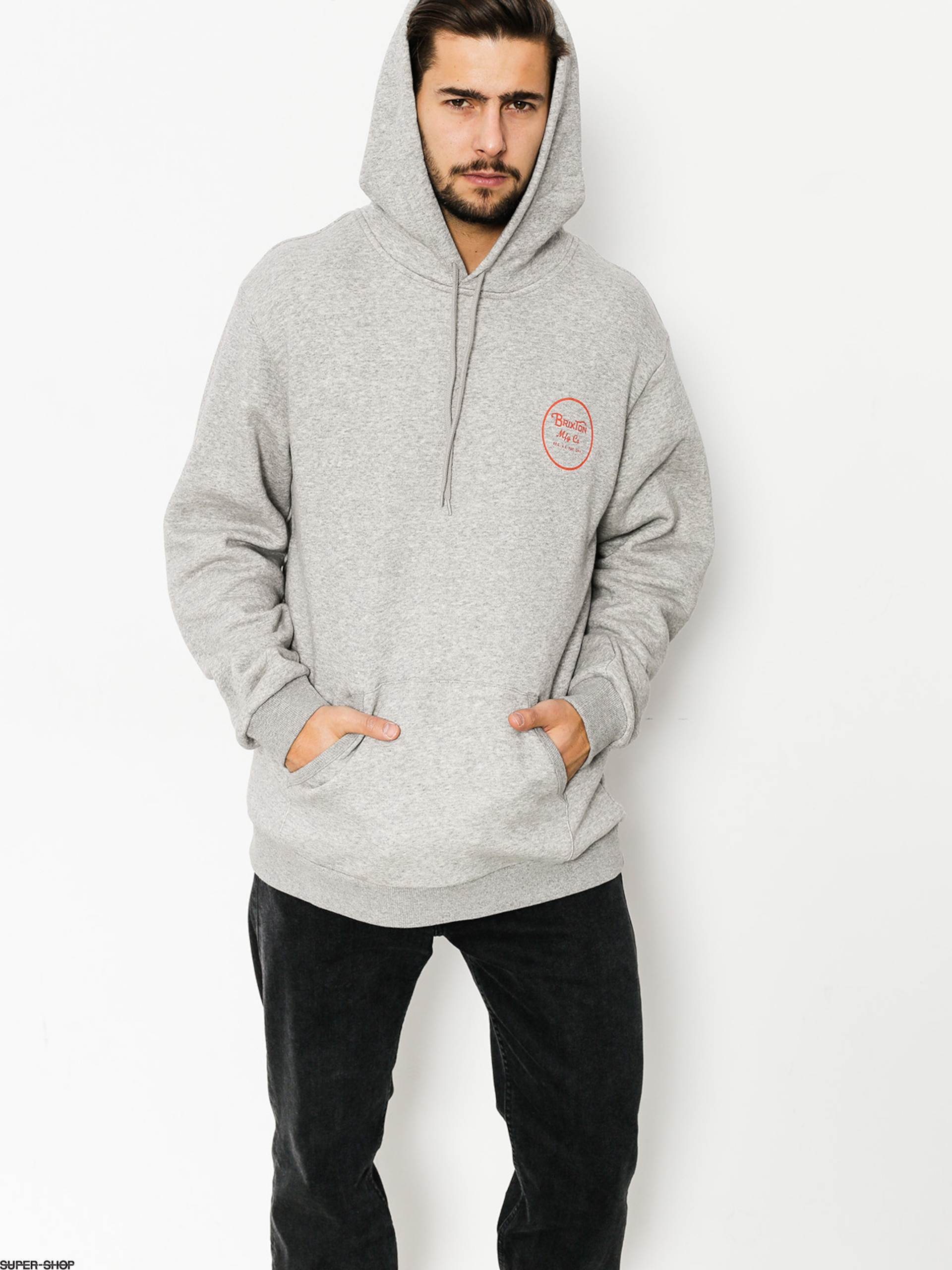 Brixton Hoodie Wheeler HD (heather grey/orange)