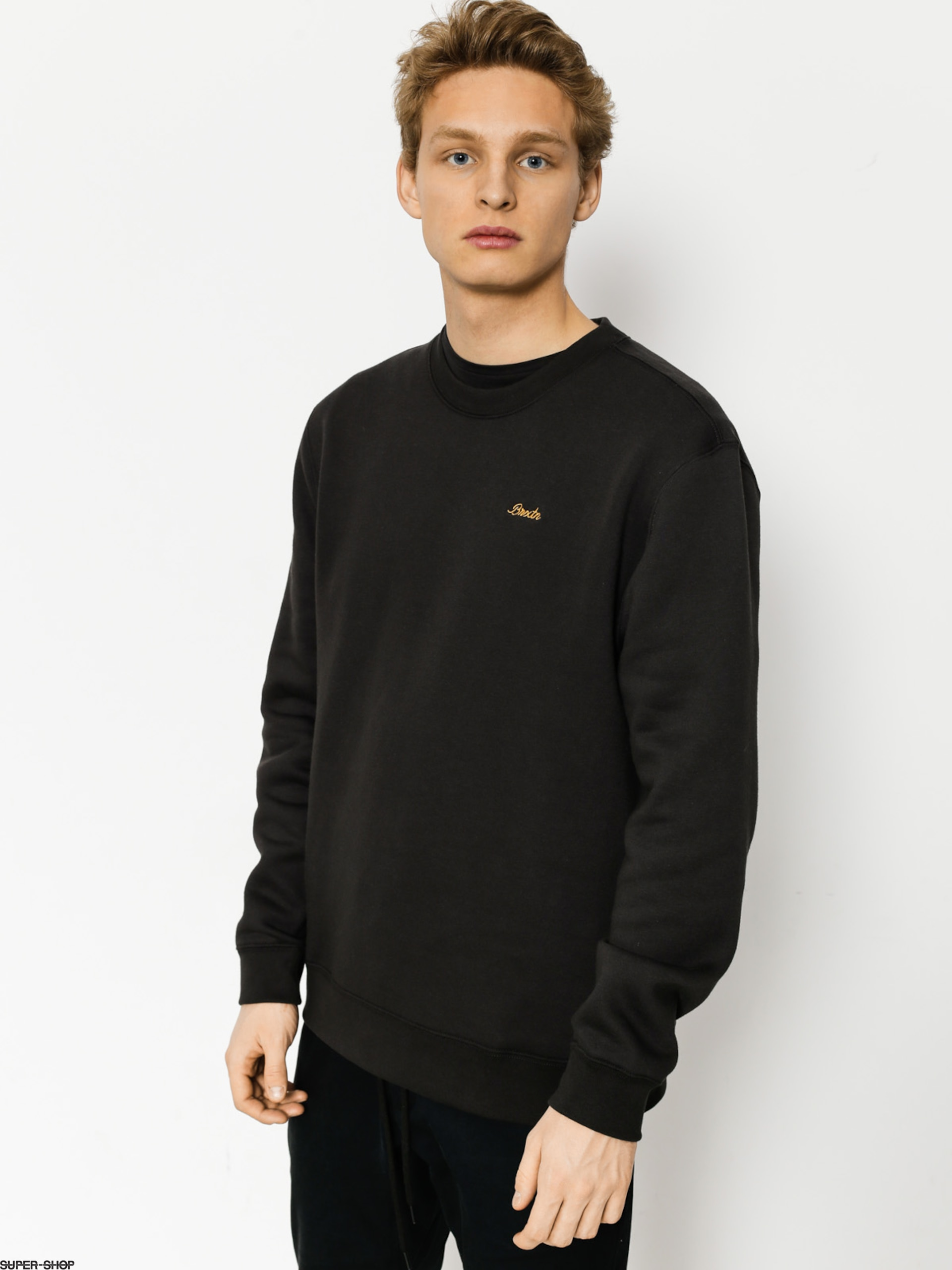 Brixton Sweatshirt Westchester Crew (washed black)