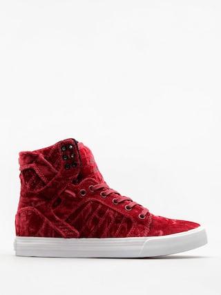 Supra Shoes Skytop Wmn (dark ruby/white)