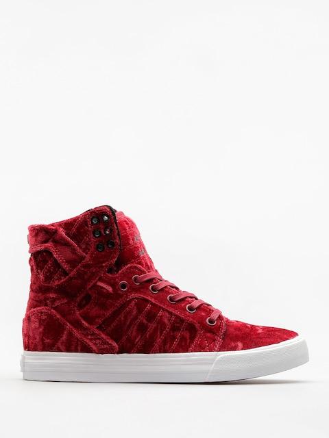 Supra Schuhe Skytop Wmn (dark ruby/white)