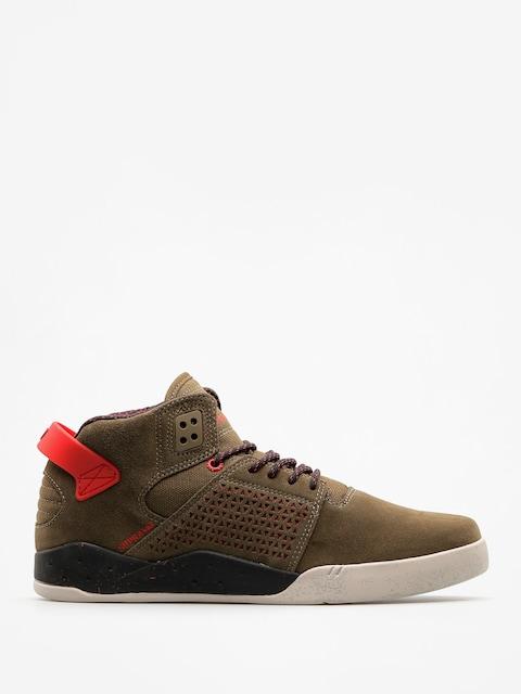 Supra Schuhe Skytop III (olive/risk red)