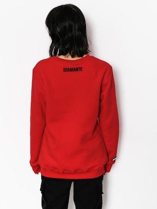 Diamante Wear Sweatshirt Sarcasm Wmn (red)