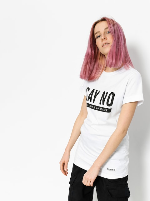 Diamante Wear T-shirt Say No Wmn