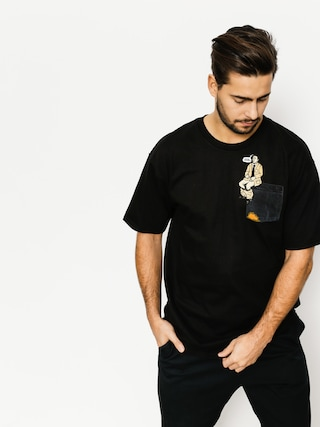 Skate Mental T-shirt Upper Decker Pocket (black)