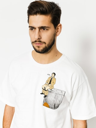Skate Mental T-shirt Upper Decker Pocket (white)