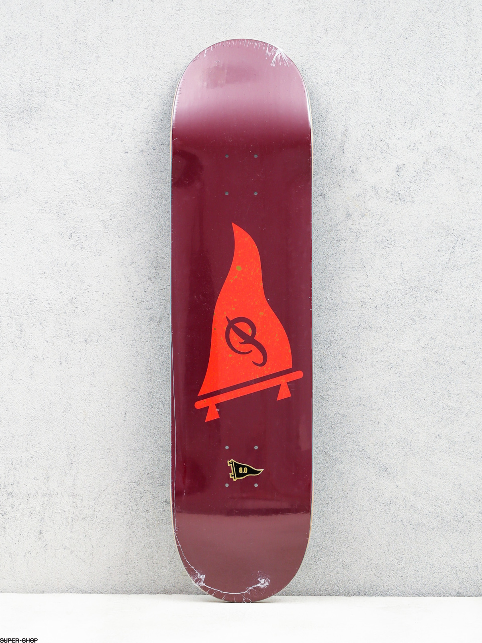 Primitive Deck Speckled Pennant (burgundy/red)
