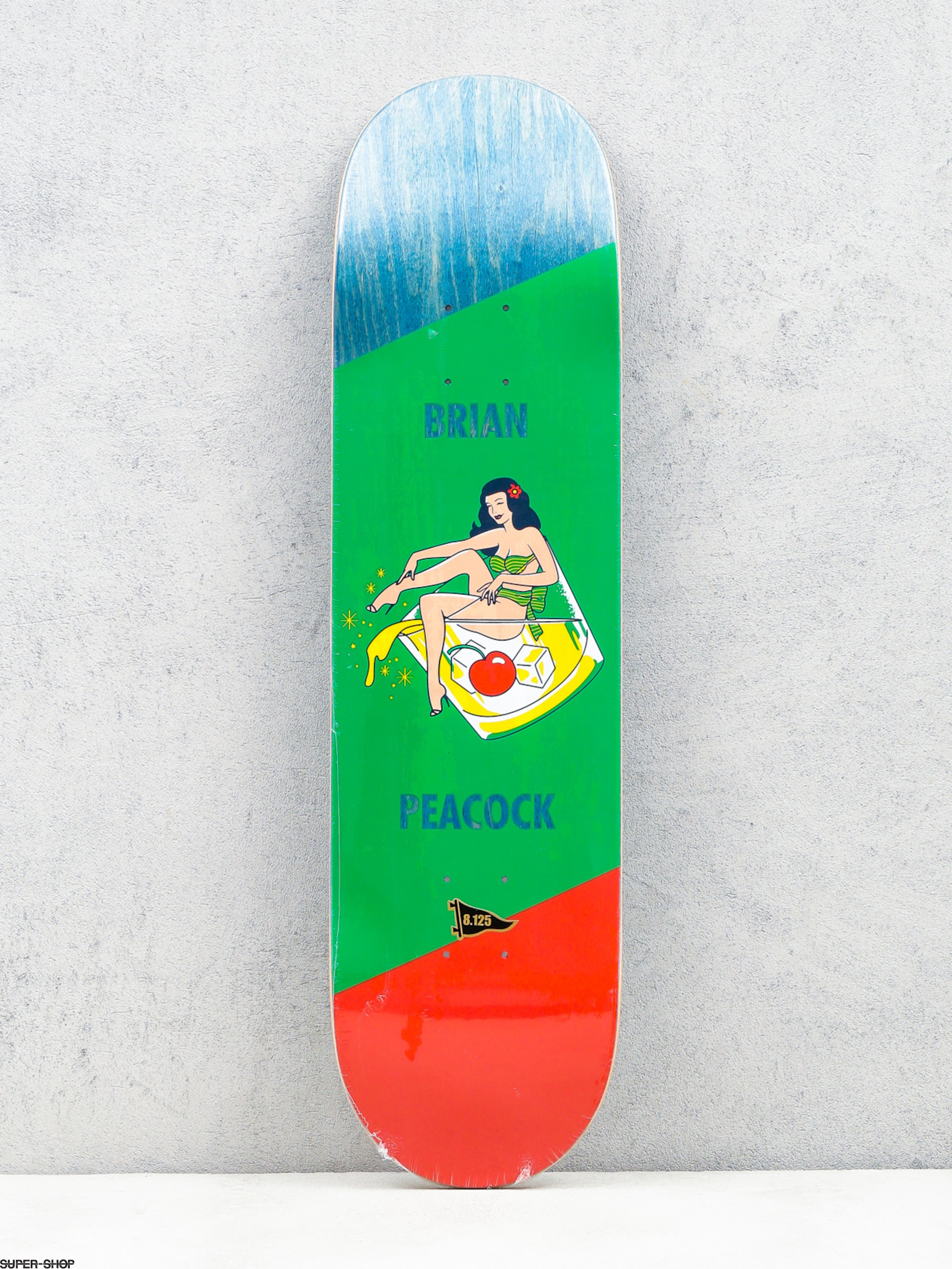 Primitive Deck Peacock Pin Up (drink/green/red)