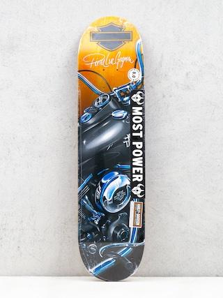 Darkstar Deck X Harley Davidson Dyna R7 (black/orange/blue)