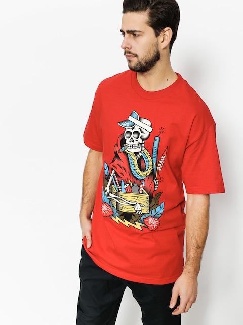 LRG T-Shirt Skull Kracker (red)