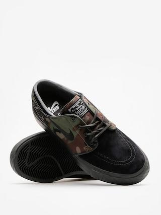 Nike SB Shoes Air Zoom Stefan Janoski Og (black/black medium olive white)