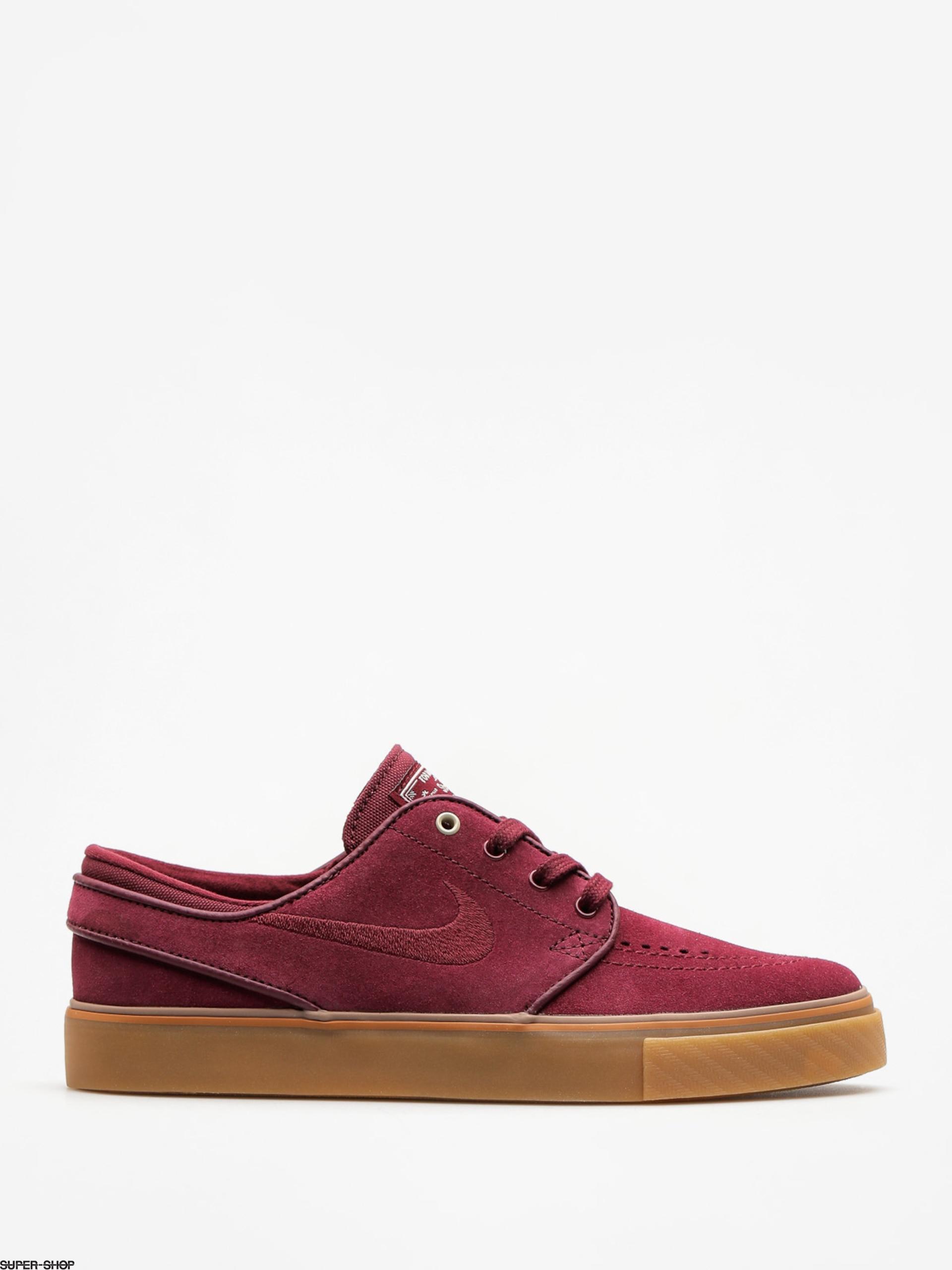 47a8a4342ea3 Nike SB Shoes Air Zoom Stefan Janoski Wmn (night maroon night maroon light  bone)