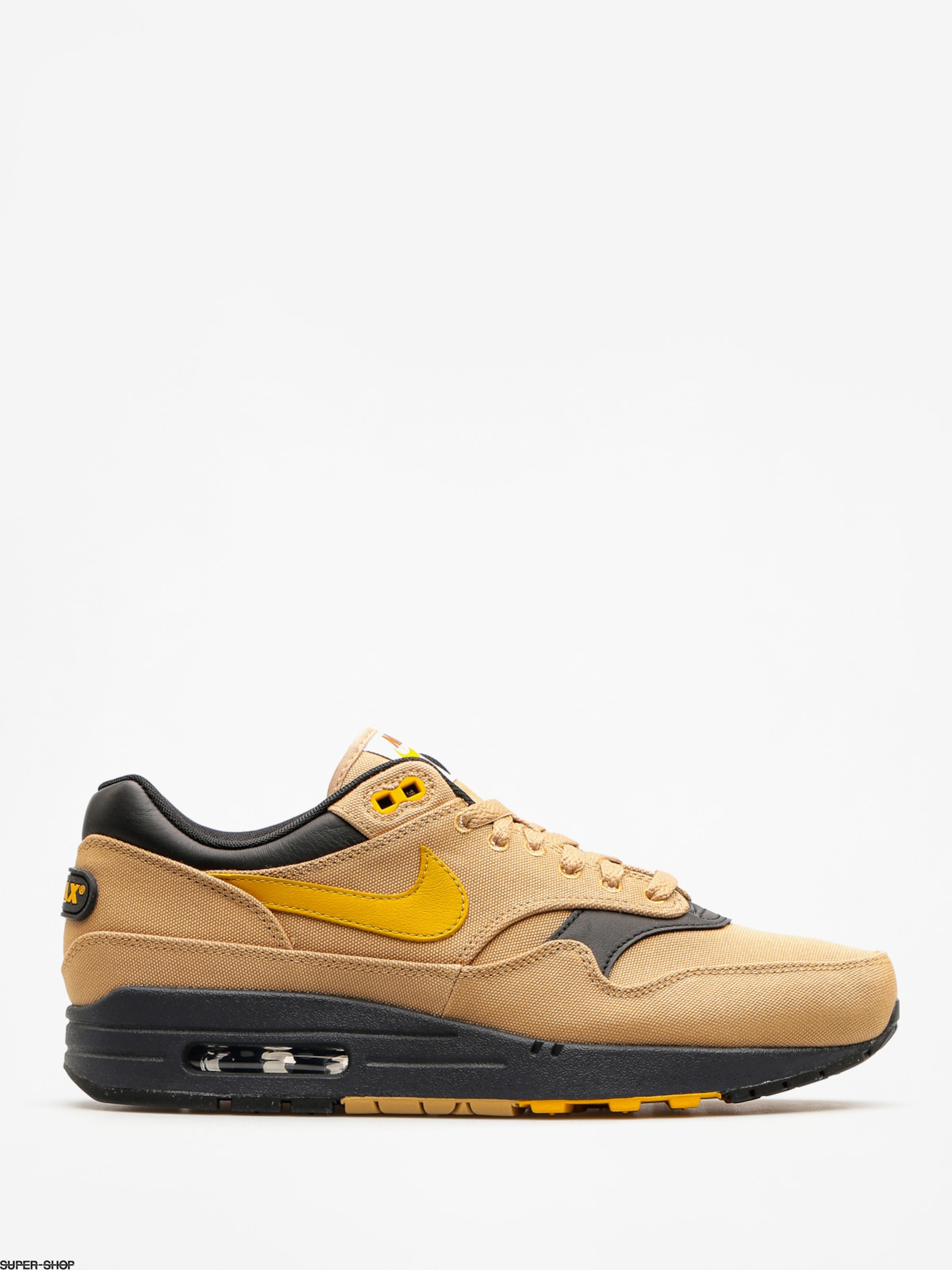 "Nike Schuhe Air Max 1 Premium (elemental gold/mineral yellow black ""93 logo pack"" )"