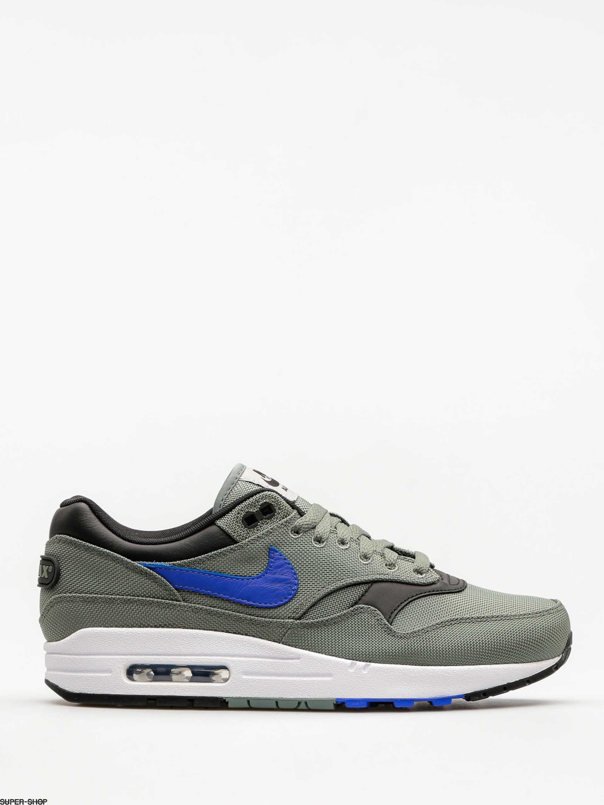 "Nike Schuhe Air Max 1 Premium (clay green/hyper royal white black ""93 logo pack"")"