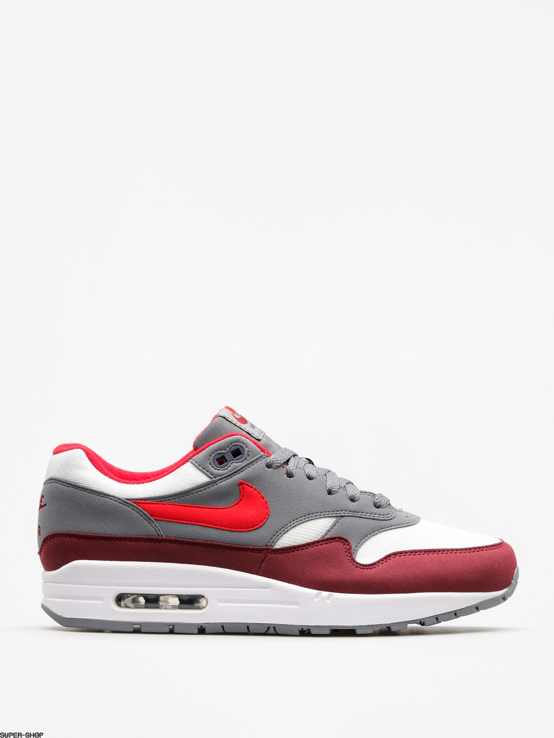 Nike Schuhe Air Max 1 (white/university red cool grey team red)