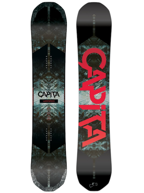 Capita Snowboard Warpspeed (black/white/red)