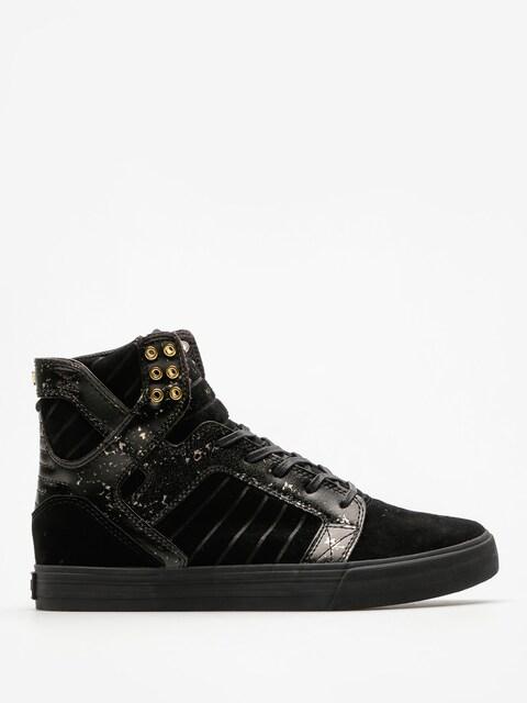 Supra Schuhe Skytop (black/gold/black)