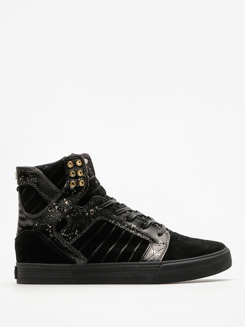 Supra Shoes Skytop (black/gold/black)