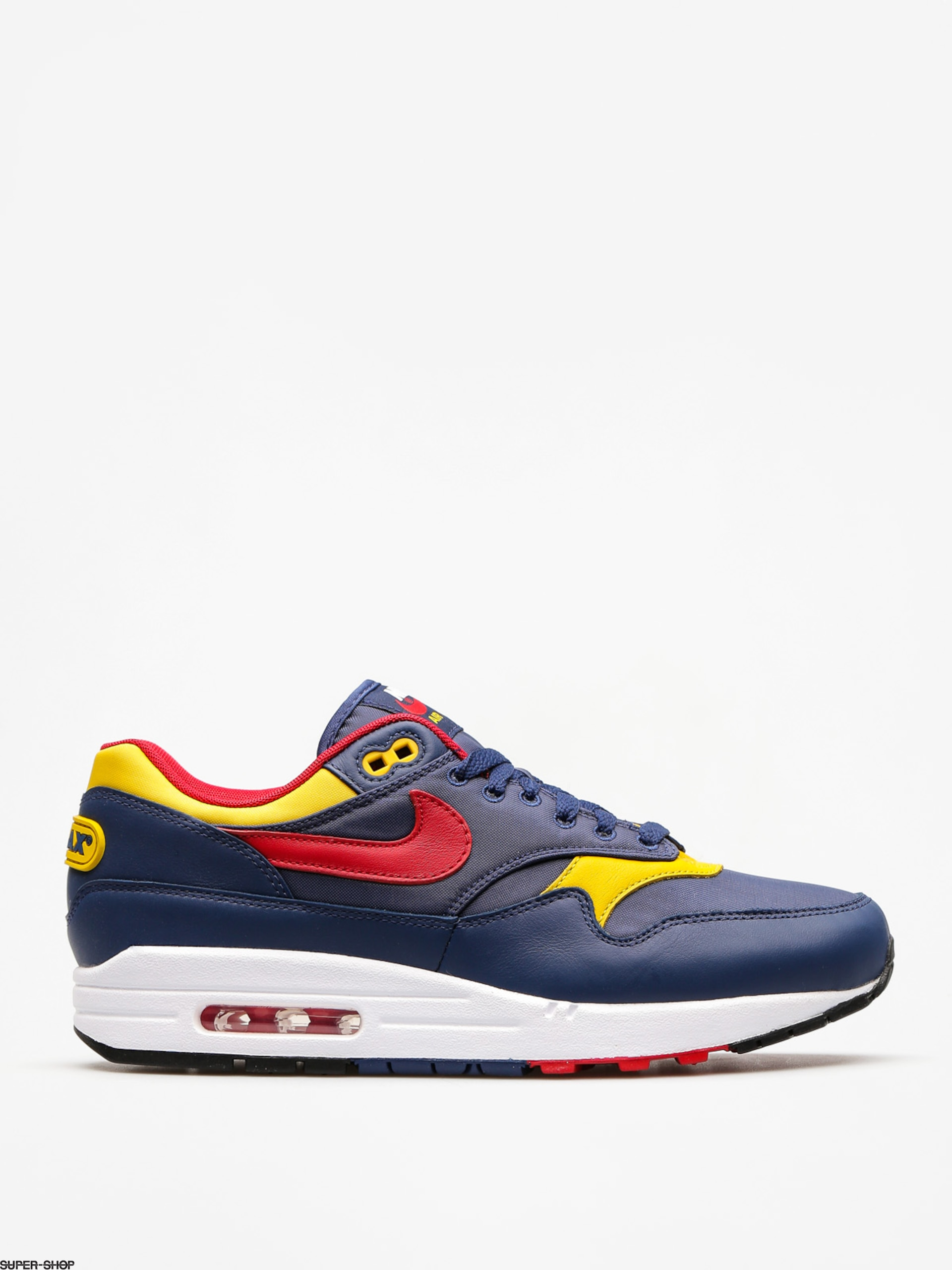 Nike Shoes Air Max 1 Premium (navy/gym red vivid sulfur white)