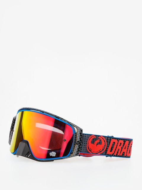 Dragon Cross goggles NFX2 (nate adams/injected lumalens red ion)