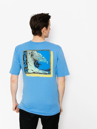 Quiksilver T-Shirt Framers Up (silver lake blue)
