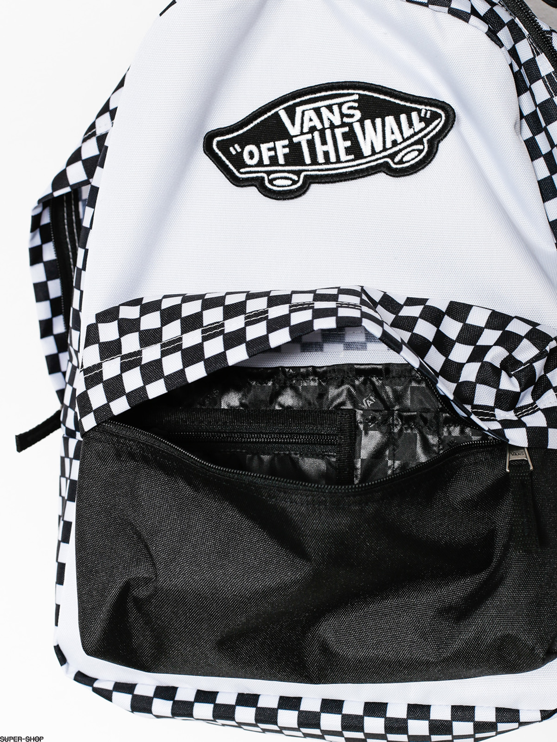 Vans Backpack Realm Wmn Black White Checkerboard