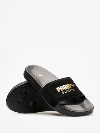 fashionable and attractive package buy sale full range of specifications Puma Flip-flops Leadcat Suede (puma black/puma team gold)