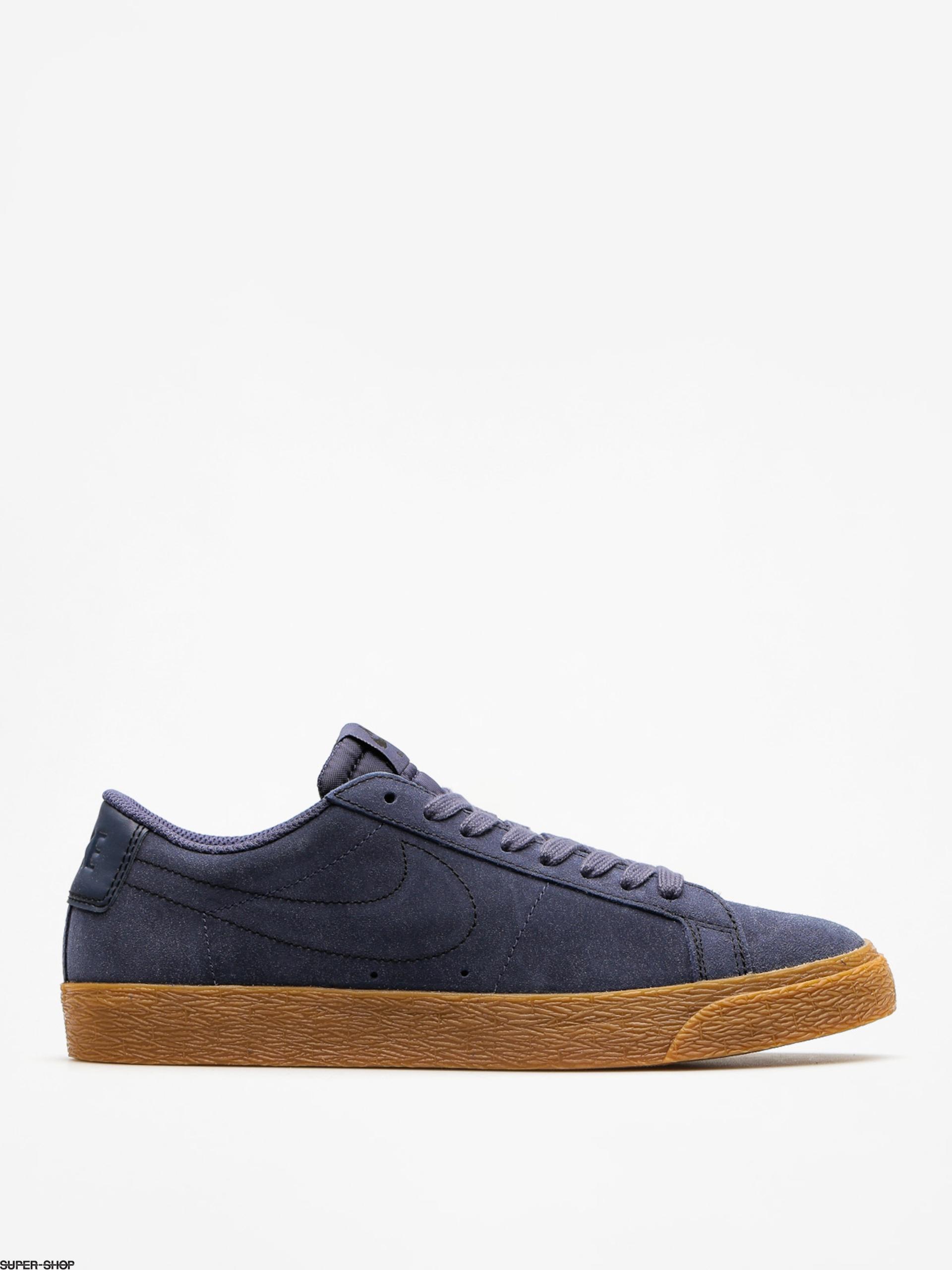ec71a8d9914b Nike SB Shoes Zoom Blazer Low (thunder blue thunder blue gum med brown)