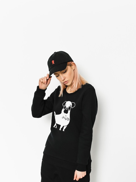 Diamante Wear Sweatshirt Pug Life Wmn