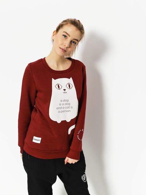 Diamante Wear Sweatshirt Less People More Cats Wmn (burgundy)