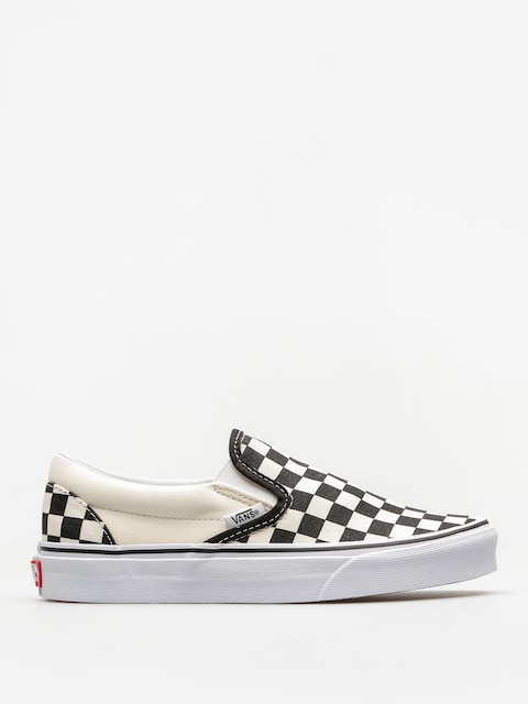 Vans Shoes Classic Slip On (blk whtchckerboard/white)