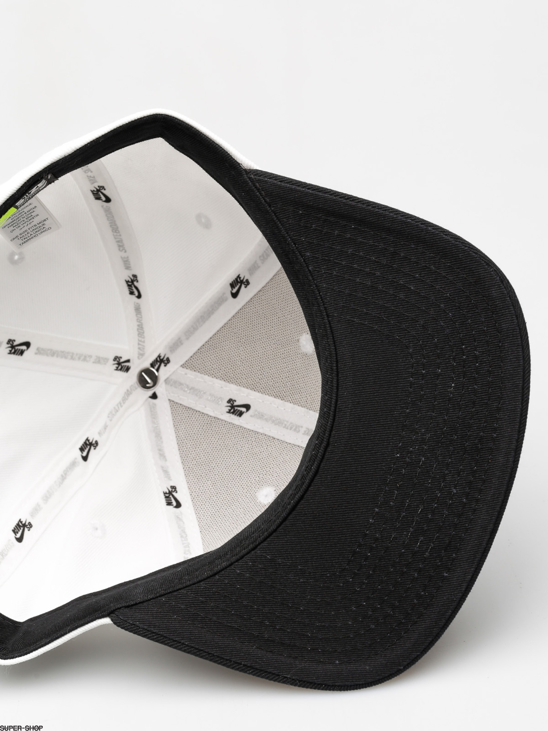 eab16fb3dd3 Nike SB Cap Sb Icon Snapback ZD (white black black black)