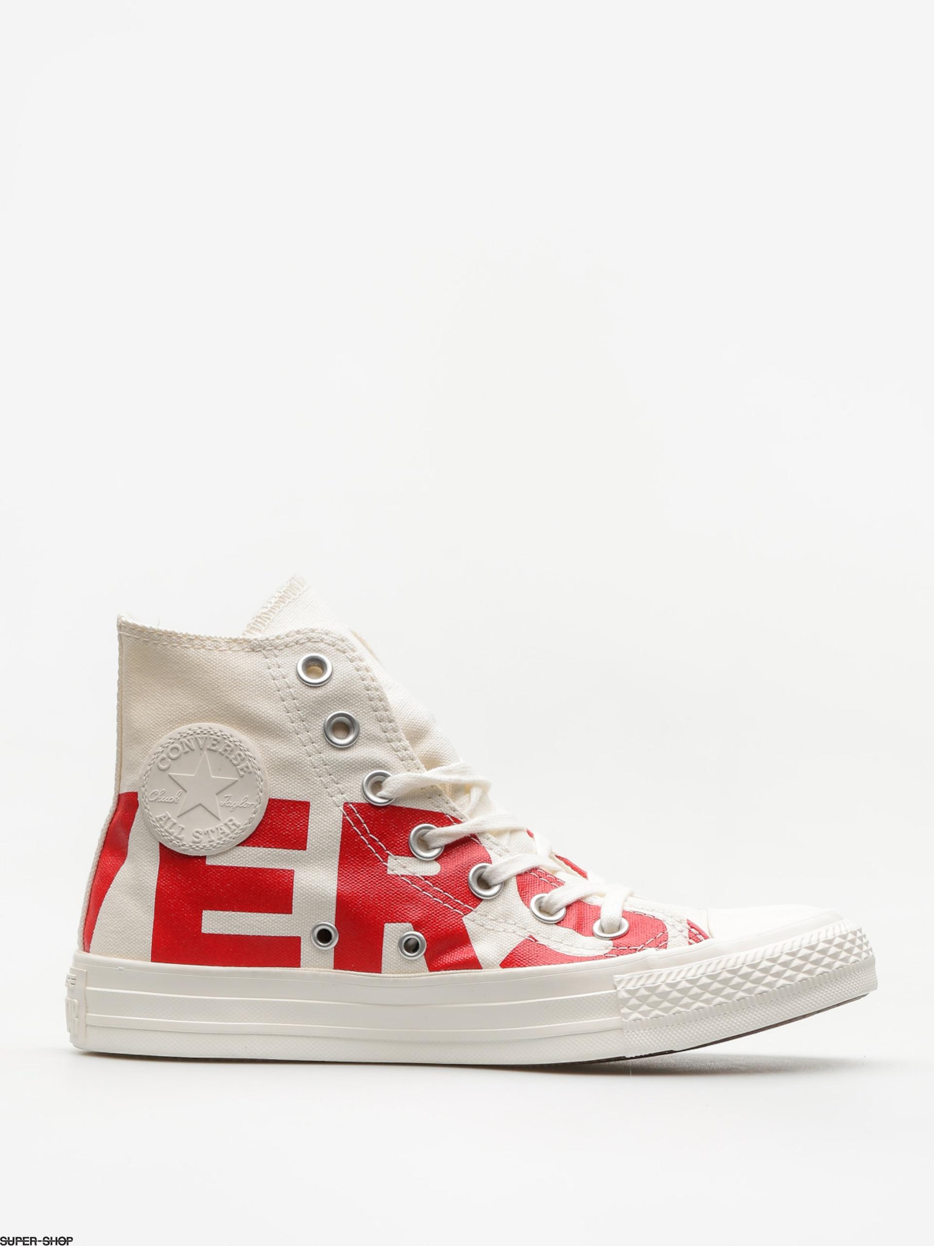 Converse Chucks Chuck Taylor All Star Hi (natural enamel red egret) 197a3e84dc2