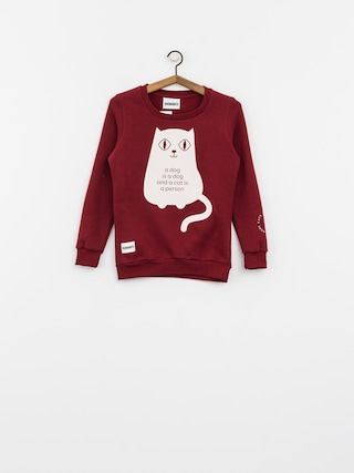 Diamante Wear Sweatshirt Less People More Cats Wmn (burgundy)