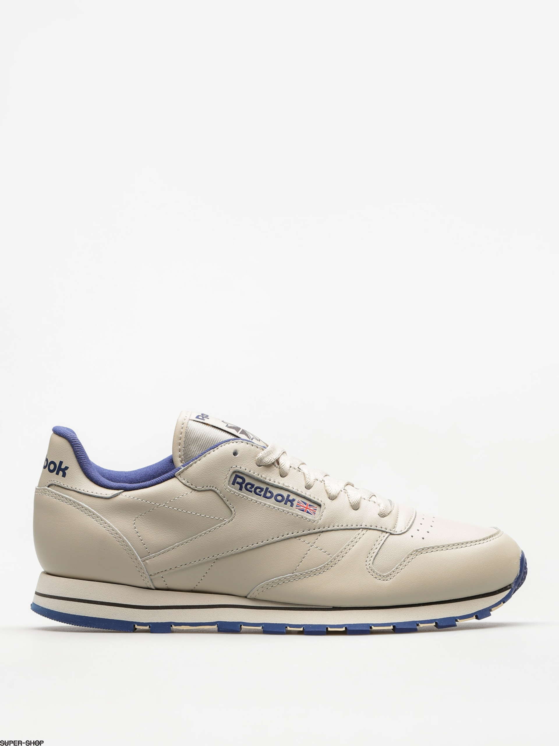 Reebok Shoes Cl Lthr (ecru/navy)