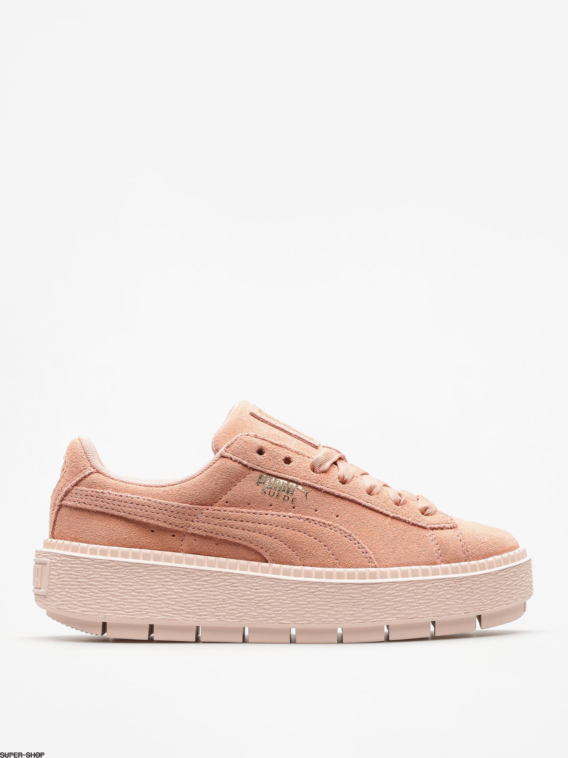 official photos c5d98 3525c Puma Shoes Platform Trace Wmn (peach beige/pearl)