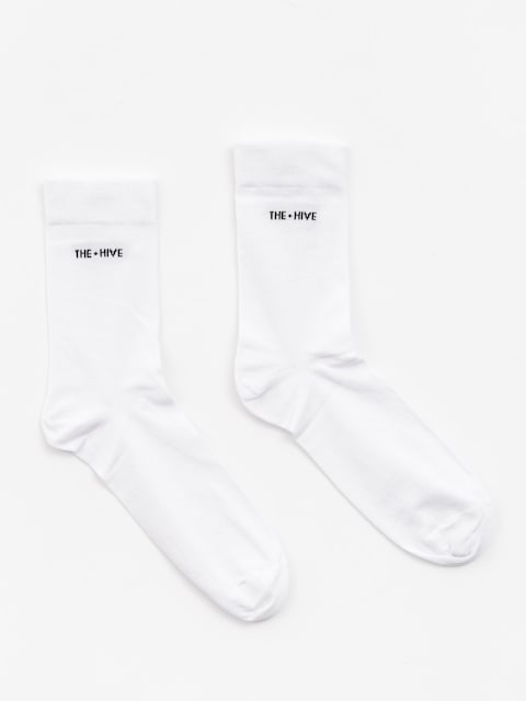 The Hive Socken Logo (whie)
