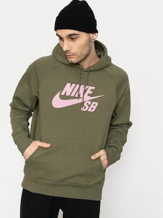 Nike SB Hoodie Sb Icon HD (medium olive/elemental pink)