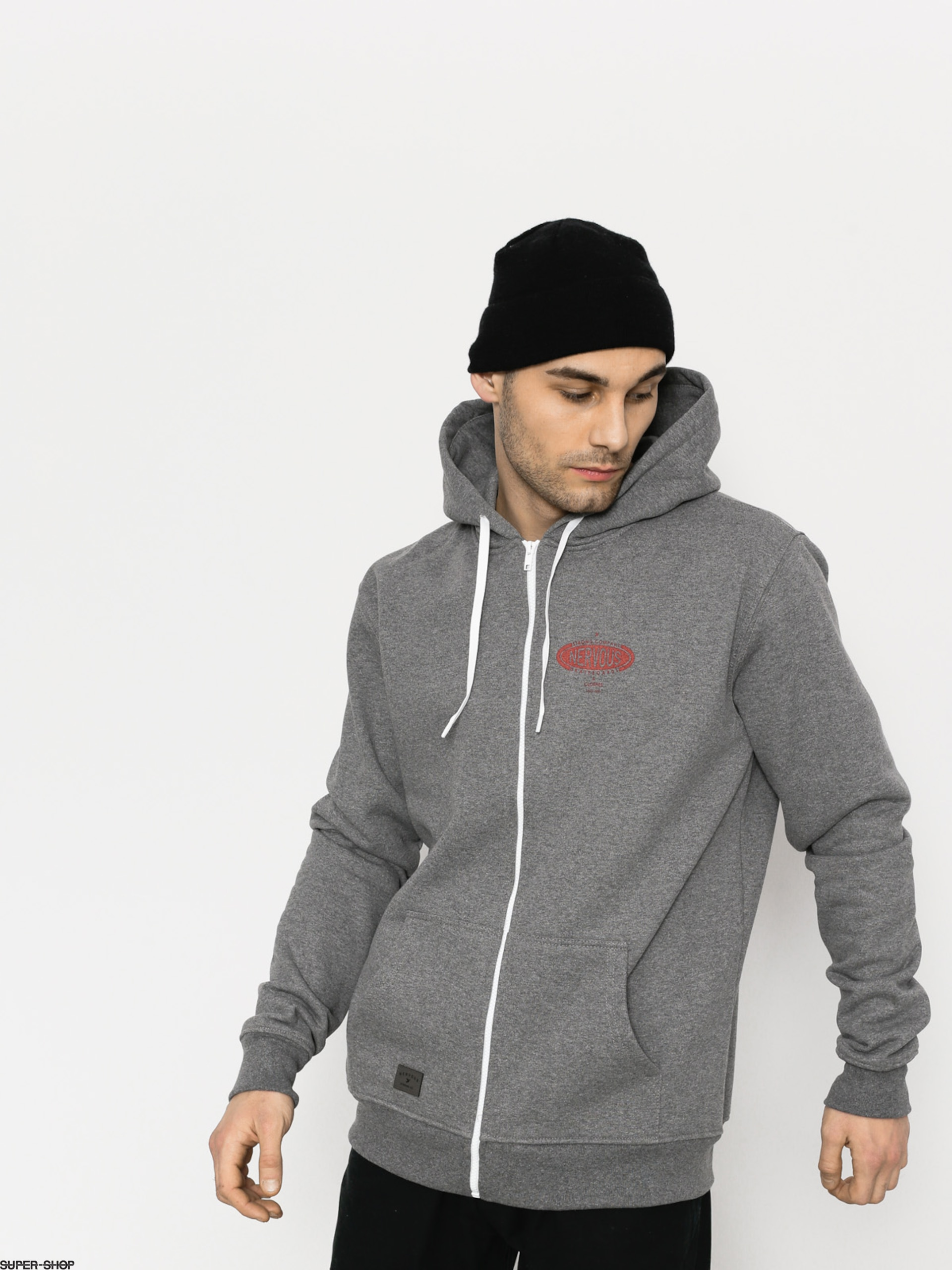 Nervous Hoodie Tire Shop ZHD (grey)