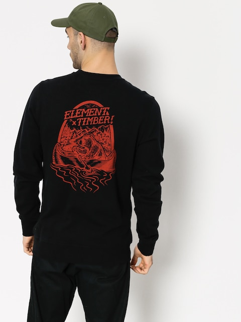 Element Sweatshirt Roar N Row Crew (flint black)