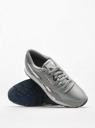les chaussures reebok cl le  nylon platine / jet Bleu  le a35a16