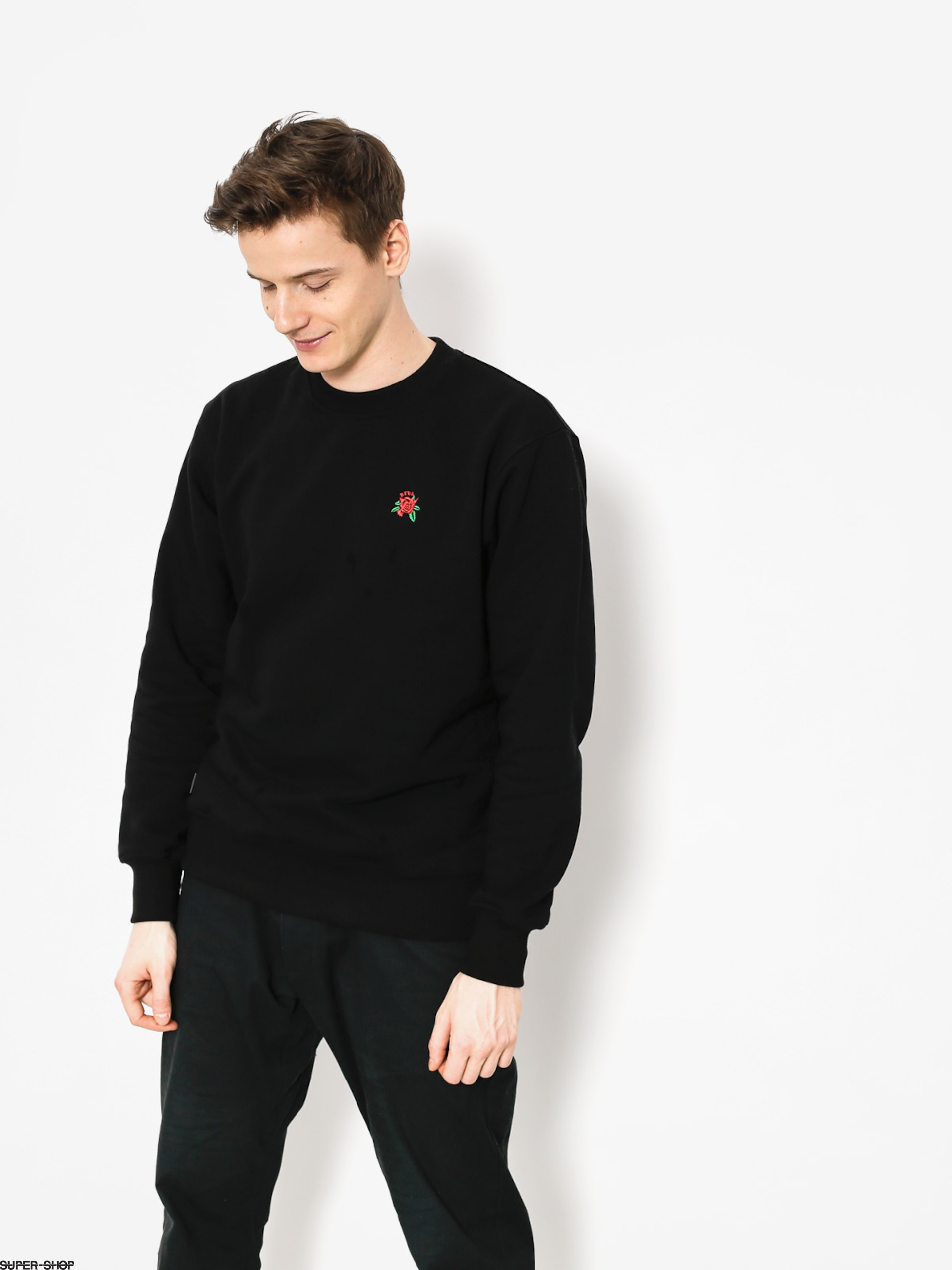 Nervous Sweatshirt Rose (black)
