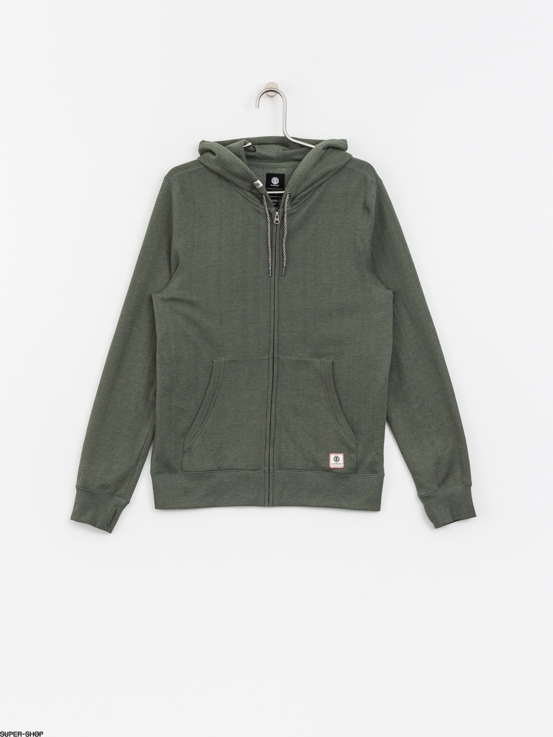 Cornell Element Hoodie Duck Zip Overdye Green nnxC4qz1vw