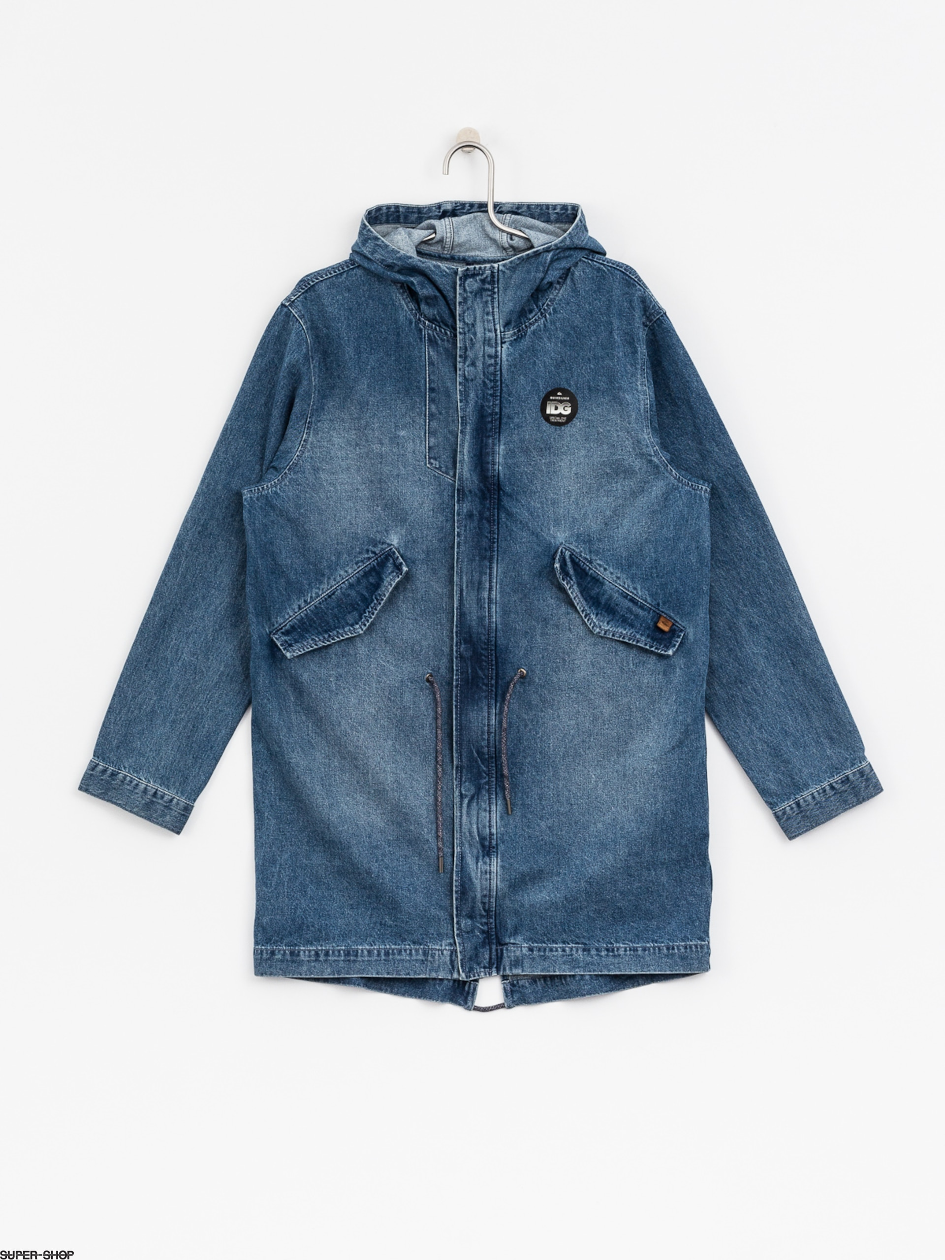 Quiksilver Jacket Brick Mid Length Denim (blue used)