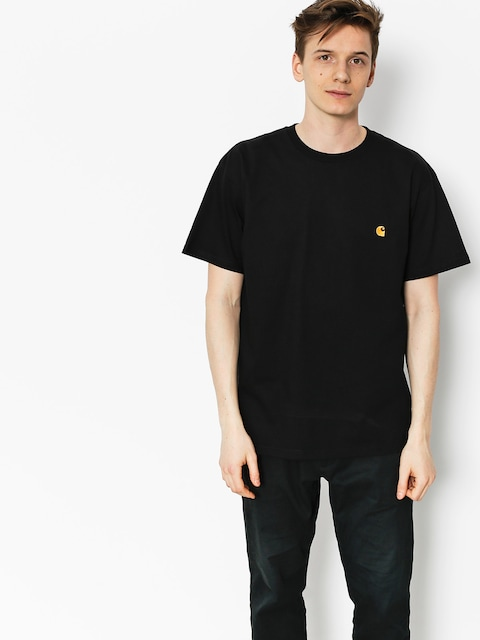 Carhartt T-shirt Chase (black/gold)