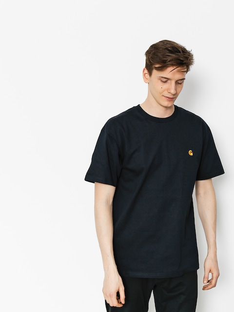 Carhartt T-shirt Chase (dark navy/gold)