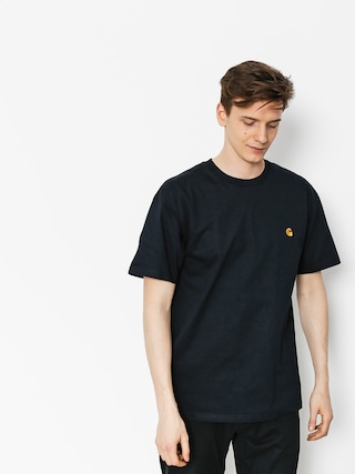 Carhartt T-shirt Chase (dark navy/gold)
